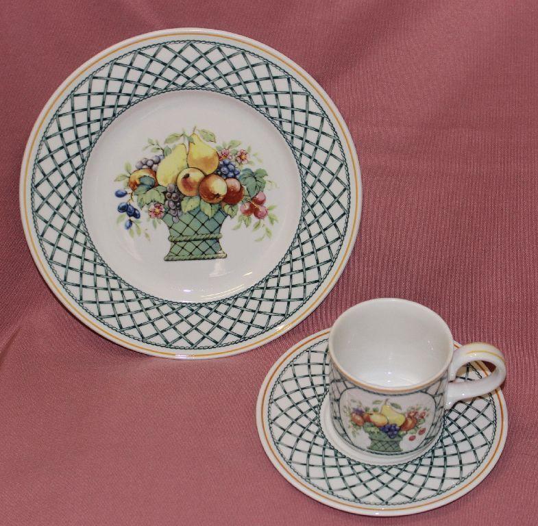 Villeroy BOCH v&b Basket caffè posto a tavola TAZZA 3-tlg g3 Torta Piatto inferiore 47234