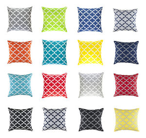 2 Pack TreeWool, Pillowcases Trellis Accent Cotton Decorative Cushion Covers