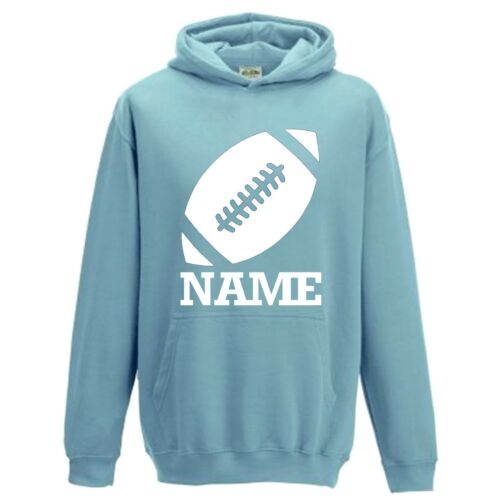 NEW Personalised Boys Girls Kids Rugby Football Hoodie With Name Custom Print