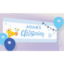 Amscan 9901956 On Your Christening Day Blue Personalised Banner
