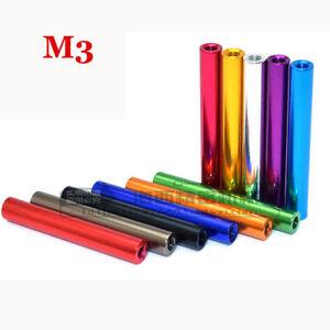 10~50Pcs M3 Standoff Alloy Column Round Alloy Lightweight Spacer Stud Fastener