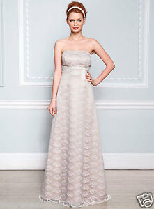 Image Is Loading Bnwt Size 12 14 Candra Champagne Satin Ivory