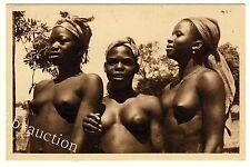 Benin YOUNG WOMEN BIMBÉRÉKÉ JUNGE FRAUEN W Africa * Vintage 20s Ethnic Nude PC