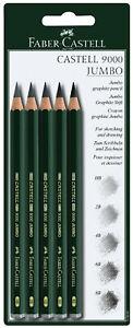 Faber-Castell-9000-Jumbo-Graphite-Pencils-5-3mm-Extra-Thick-Lead-HB-2B-4B-6B-8B