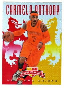 2012-13-Panini-Crusade-RED-amp-GOLD-REFRACTOR-299-CARMELO-ANTHONY-51-99-Thunder