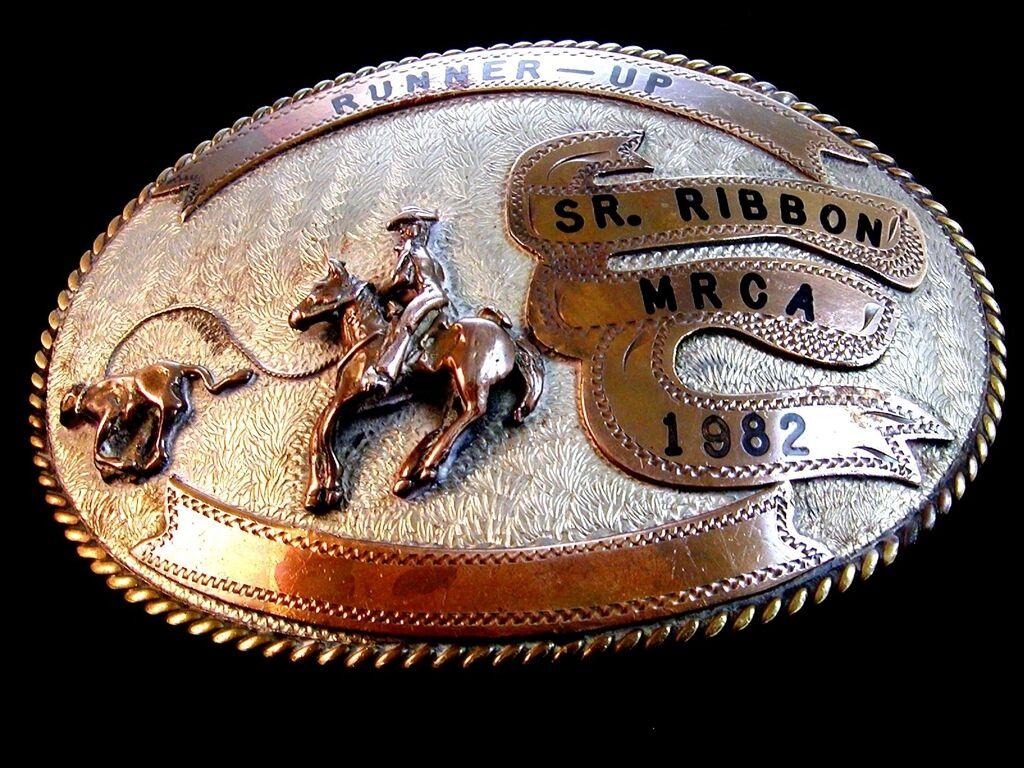 1982 Midsouth Jugend Rodeo Cowboys Kombination Wade Abseilend Sr. Band Gürtel