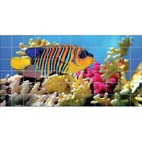 Stickers Carrelage Mural Poisson Mer Rouge 2026