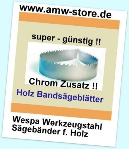 3 MIX  Sägeband 2180x0,65mm Bandsägeblatt  8,10,13 Holz Atika Bernado Einhell Gü