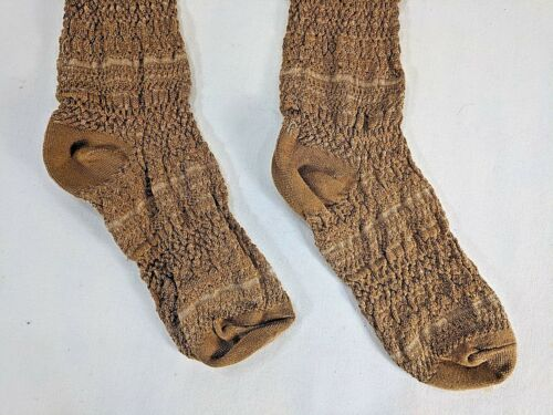 MUK LUKS womens light brown//tan Over the Knee socks NWT