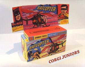 CORGI-JUNIORS-batcottero-SUPERBA-scatola-di-presentazione-personalizzate-e-vassoio-solo-assemblato