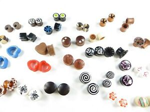 10 pairs(20 pieces) gauge wooden acrylic ear plugs tunnel body piering-BALI MADE