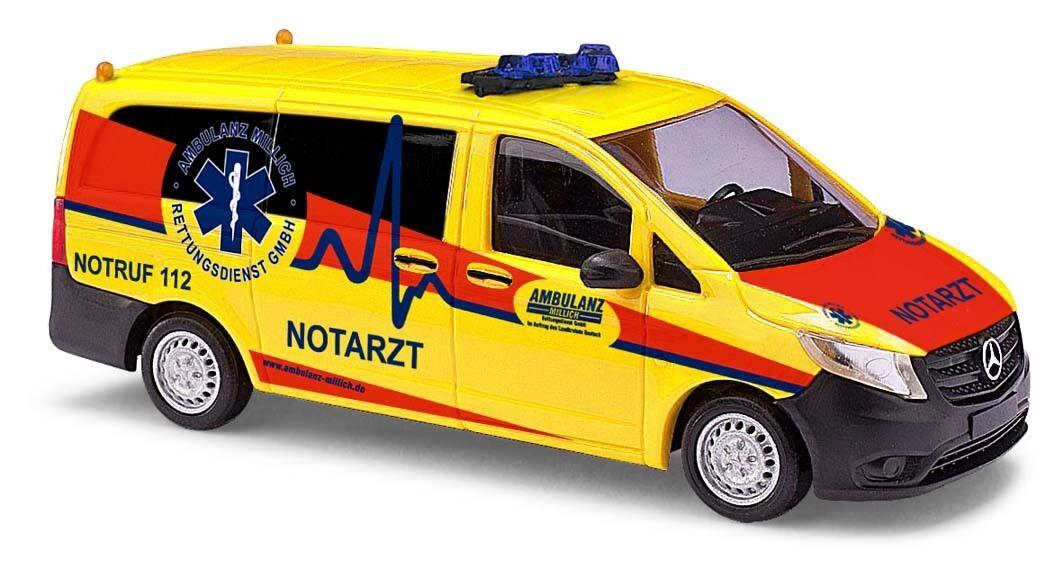 Busch 51115 mercedes-vito, ambulancia, H0 modelo de de de coche 1 87 f75258