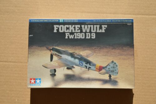 New Tamiya 172 Ki WW2 German FockeWulf Fw190 D9 Model Airplane Kit