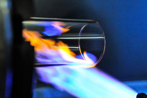 TUBO di vetro per stufa vetro Tube 150cm PELLET torcia tubo di vetro fuoco