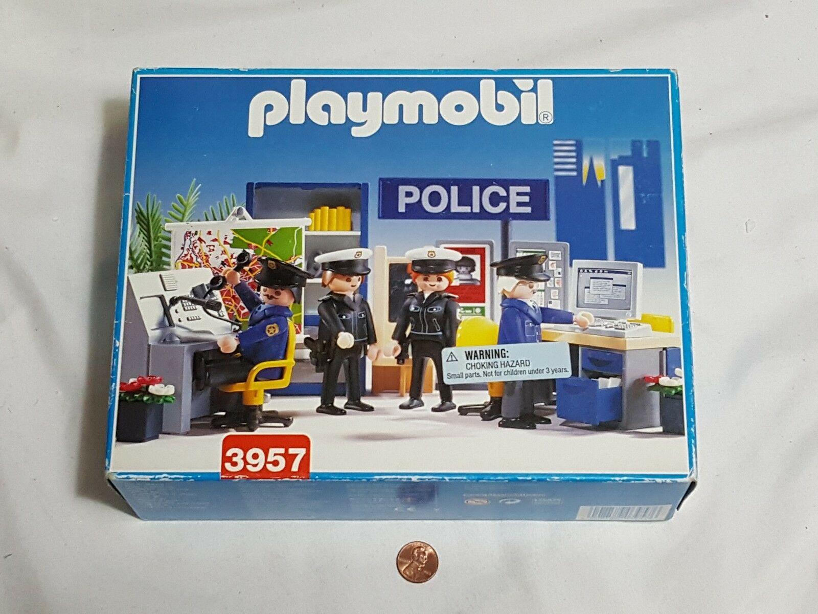 Nouveau PLAYMOBIL 3957 Police Station Scellé playmobile flics bureau Toy Set
