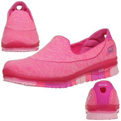 Skechers Go Flex Walk Damen Sommerschuhe Slip On Slipper pink Ballerinas | eBay