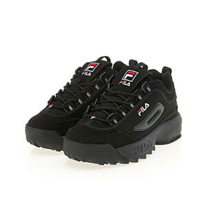 Details about New Original FILA Women Disruptor II 2 Shoes Sneakers- Triple  Black(FS1HTA1078X)