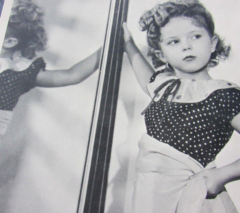 Foto de Shirley Temple joven Shirley Glamour Shot posando 10x8 magnífico