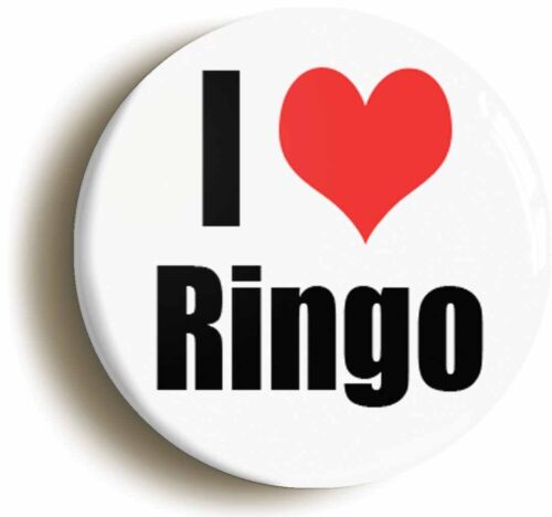 1960s 1inch//25mm diameter I HEART LOVE RINGO RETRO BADGE BUTTON PIN