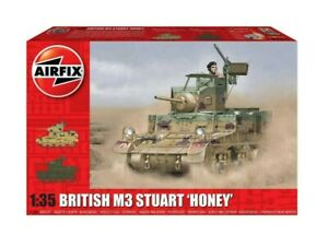AIRFIX-1-35-BRITISH-M3-STUART-039-HONEY-039-WW2-TANK-MODEL-KIT-PLASTIC-VEHICLE-KIT