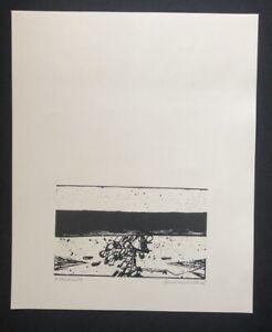 Hans sperschneider, Ohne Titel (prova di stampa), taglio di legno, 1968, firmato a mano
