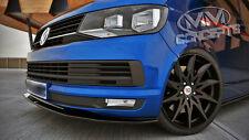 Carbon CUP Spoilerlippe VW T6 BUS Schwert Front Ansatz Spoiler lippe ABS Neu