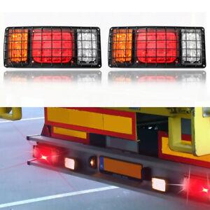 2x-12V-24V-32-LED-Feux-Arriere-Freinage-Stop-Clignotant-Camion-Remorque-Caravane