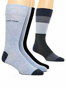 Calvin Klein Mens Blocked Micro-Stripe Crew Socks - 4 Pack- Pick SZ/Color.