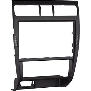 Seat-Leon-Toledo-1M-Mittelkonsole-Blende-Doppel-DIN-Navi-Schwarz