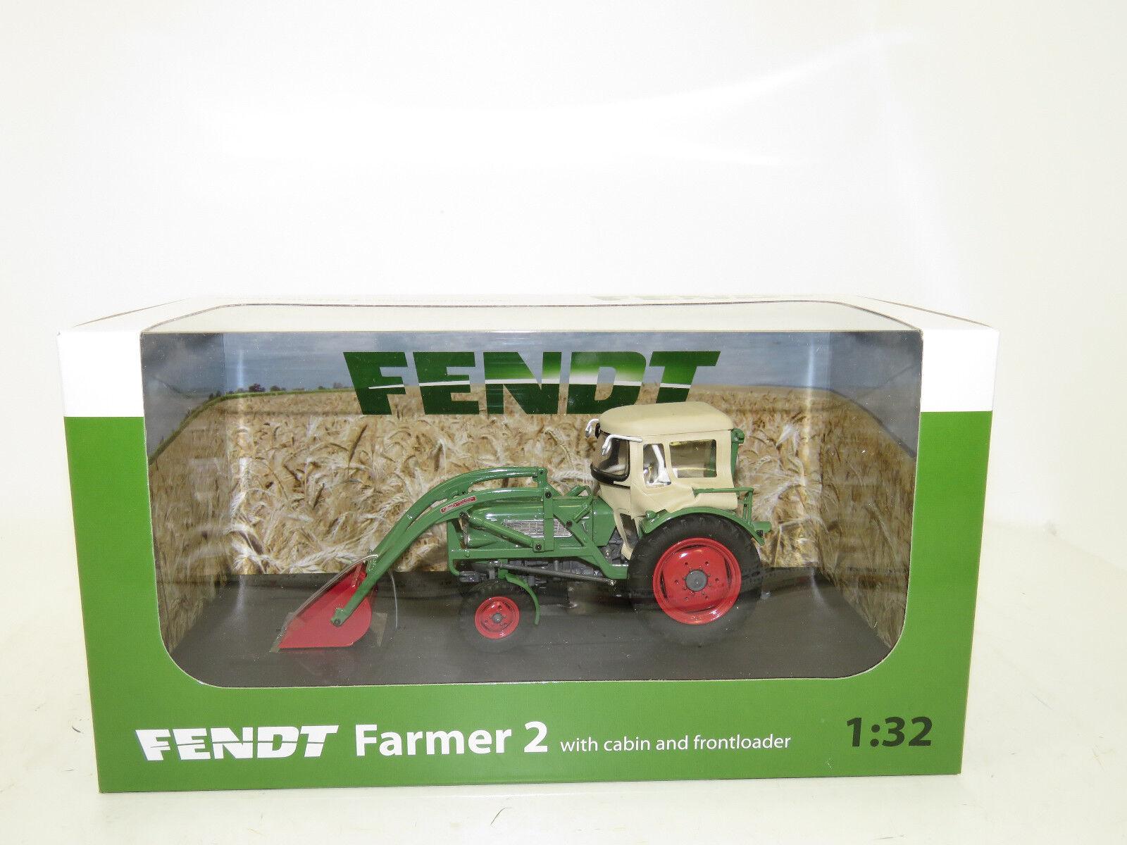 UH 4946 Fendt Farmer 2 avec Cabine et Chargeur frontal frontal frontal 1:32 | Nouvelle Arrivée  831b23