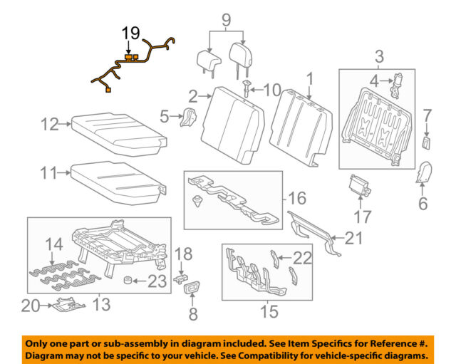 Toyota Oem 1115 Sienna Third Row Seatswire Harness Left 8219408020 Rhebay: Harness View Diagram Jeep Cj5 Wiring Ebay At Gmaili.net