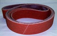 2x72 Sanding Belts 120 Grit Premium Orange Ceramic (8pcs)