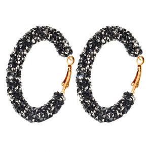 1-Pair-Black-Round-Earrings-Women-Crystal-Geometric-Hoop-Earrings-Jewelry-Gift