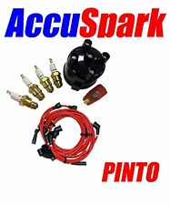 Ford Pinto Accuspark Spark Plugs ,Cap+Red Rotor + Red leads  For Motorcraft