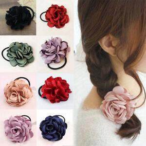 2018-Women-Girls-Elastic-Hair-Ring-Flower-Hair-Rubber-Bands-Rope-Cloth-Headbands