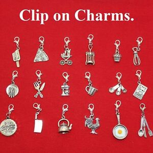 Image is loading Kitchen-Charms-with-Lobster-Clasp-for-Bracelet-Key-