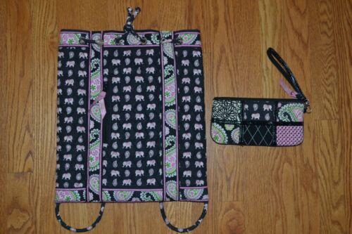 Vera Bradley PINK ELEPHANTS Draw string Backsack +
