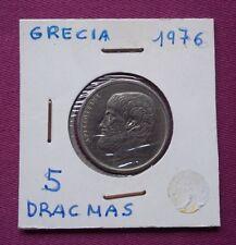 MONEDAS DEL MUNDO GRECIA 1976 5 Dracmas