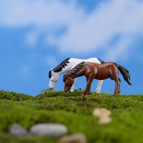 10pc Bonsai Harz-Garten Micro Landschaft Pferd Blumentopf Haus DIY-Dekor