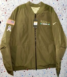 outlet store 7b4da c4755 Details about MIAMI DOLPHINS NFL NIKE 2017 SALUTE TO SERVICE REVERSIBLE  BOMBER JACKET Sz. 3XL