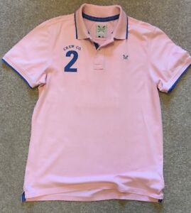 4336ecf3416 GORGEOUS CREW CLOTHING BABY PINK RUGBY POLO SHIRT LARGE BACK NO 2 L ...