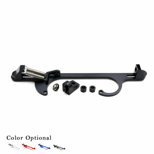 4150 4160 Aluminum Series Black Billet Throttle Cable Carb Bracket Black