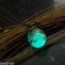 BD Fashion Bronze Bowknot Luminous Crystal Ball Pendant Necklace