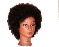 Usa Seller 100% Human Hair Afro Cosmetology Mannequin Head Xx