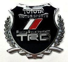 x1 New TRD Crest Emblem Replaces OEM Toyota Racing Development Sports Badge