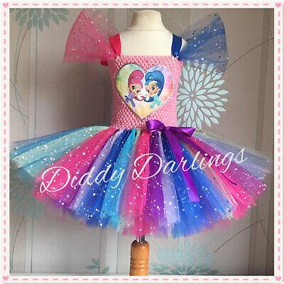Poppy Tutu Dress Costume Trolls Fancy Dress Rainbow All Sizes Colours Princess