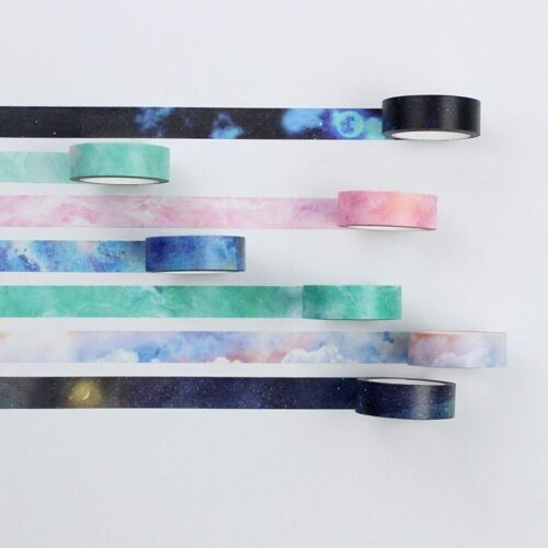 DIY 8M Decorative Sticky Washi Paper Tape Starry sky  Diary Album Scrapbooking