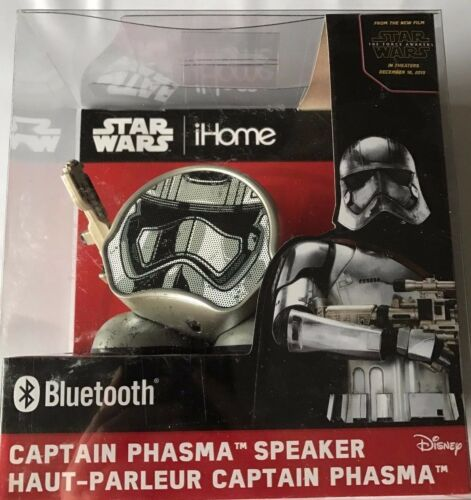 Star Wars iHome Li-B66T7.FX Captain Phasma Rechargeable Bluetooth Speaker NEW