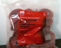 Bag of 25 GB SI-25 SnapSHOT Universal Stud Insulators Metal Studs Gardner Bender