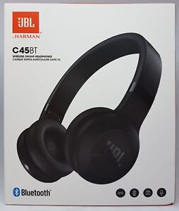 JBL-C45BT-On-ear-Bluetooth-Kopfhoerer-Schwarz-Neu-amp-OVP-Haendler
